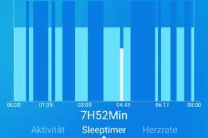 Schlafmessung in der Nacht